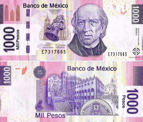 1000 Pesos Mexican Banknote