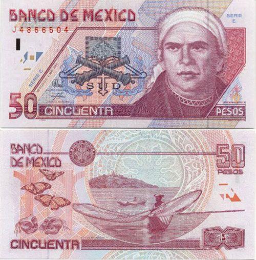 50 Pesos Mexican Banknote