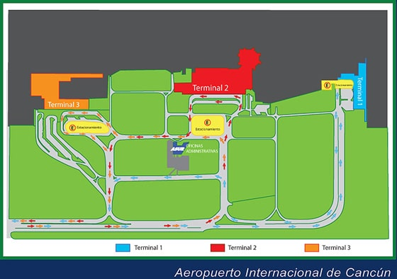 Cancun Airport Map