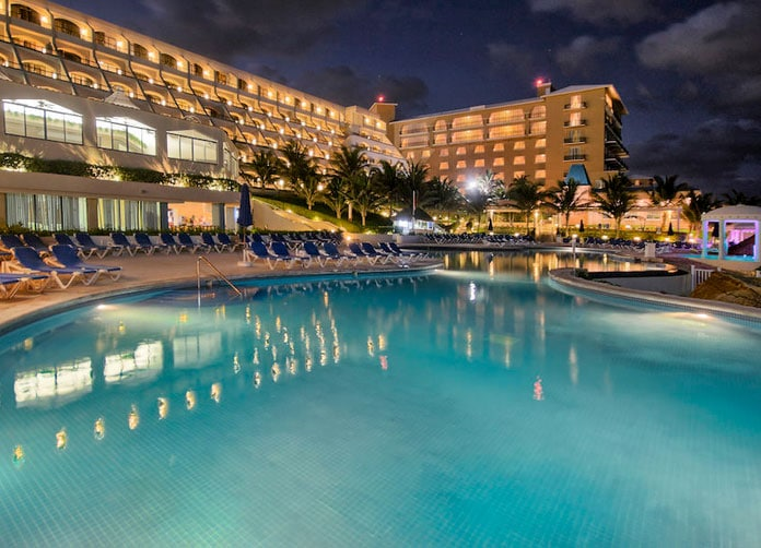 Golden Parnassus Cancun at Night