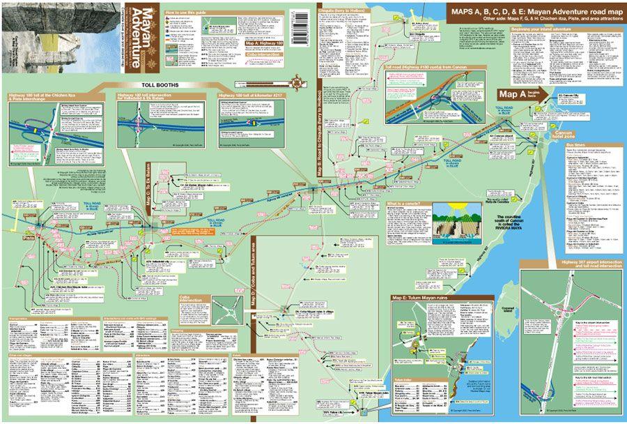 Mayan Sites Map