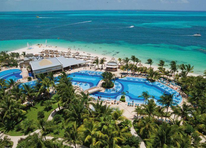 Riu Caribe Cancun Aerial View