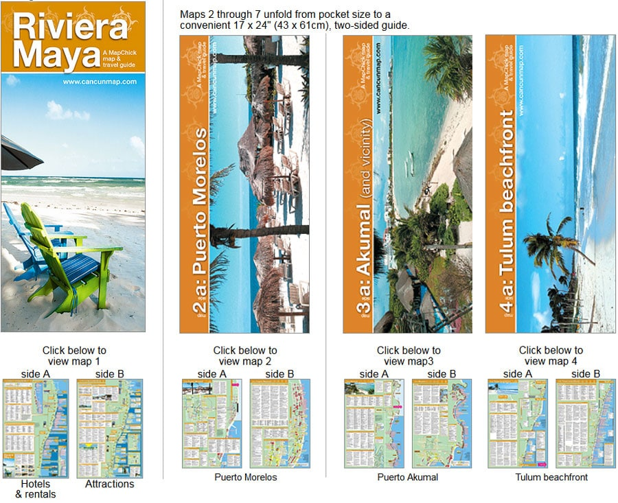 Riviera Maya Map and Detailed Guidebook | Cancuncare
