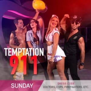 911 Party Temptation Theme Nights: Sunday