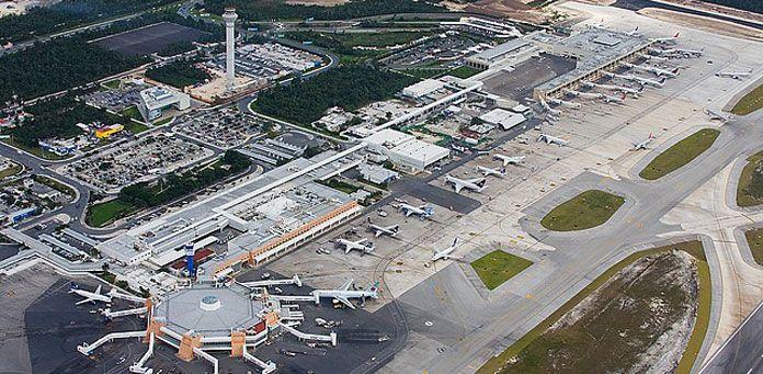 Cancun Airport Aerial View