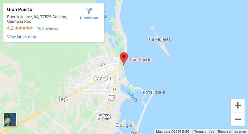 Cancun Whale Shark Tours Map