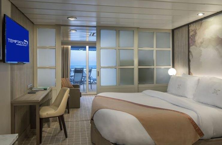 Family Veranda Bedroom Temptation Caribbean Cruise